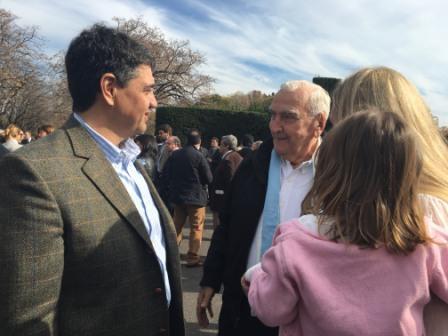 El intendente Jorge Macri asistió al festejo del 25 de mayo en la Quinta de Olivos
