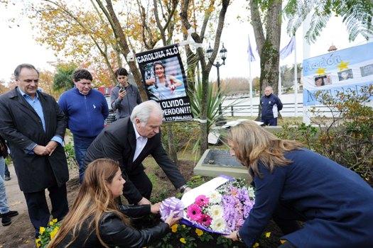Tigre homenajeó a Carolina Aló a 20 años de su muerte