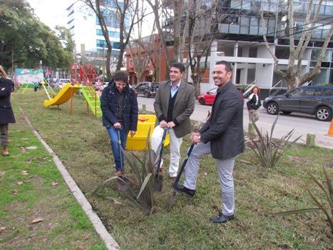 El intendente Jorge Macri recorrió la finalización de las obras realizadas en el Boulevard René Favaloro. La obras fueron realizadas por empresa Johnson.