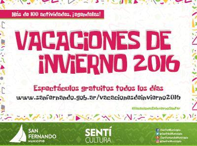 San Fernando tendrá más de 100 espectáculos gratuitos por Vacaciones de Invierno