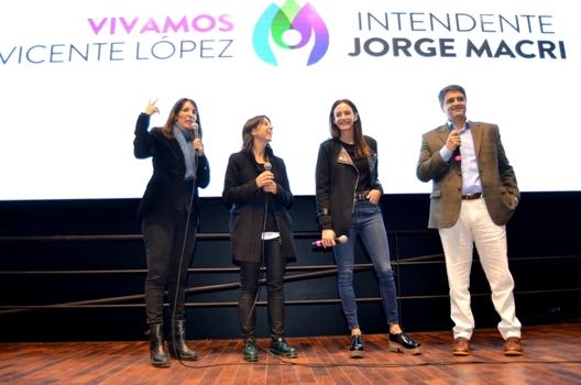 Luciana Aymar presentó su película en Vicente López