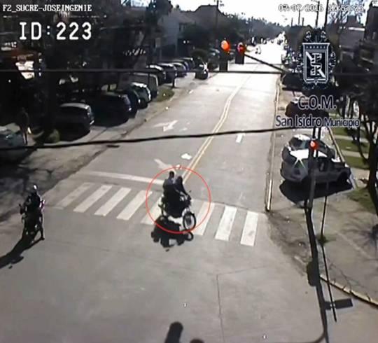 Detuvieron a dos delincuentes grabados por la cámaras de seguridad de San Isidro