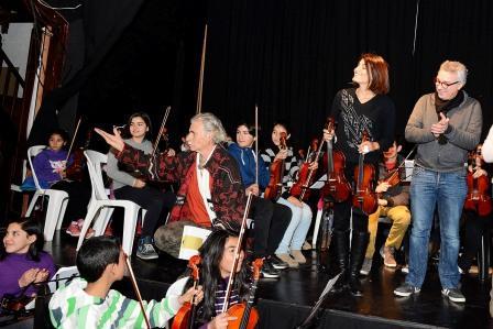 Las orquestas infanto juveniles del Delta y Rincón de Milberg despidieron el semestre con entusiasmo y alegría