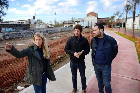 Juan Andreotti visitó la obra del parque más grande de San Fernando