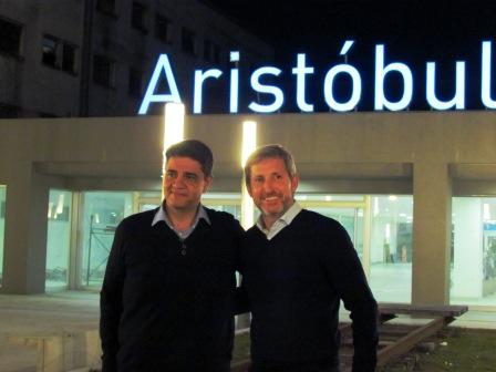 Jorge Macri y Rogelio Frigerio recorrieron las obras de la Estación Aristóbulo del Valle