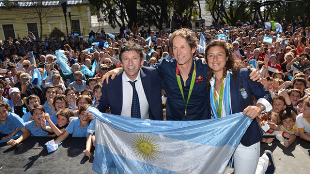 San Isidro recibió al medallista olímpico Santiago Lange con una gran fiesta