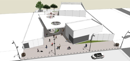 Avanza la construcción del nuevo Forum Cultural de Benavídez