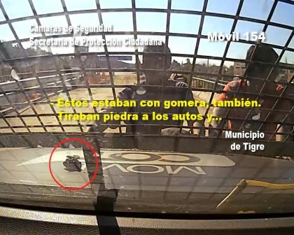 Detuvienen a tres hombres que apedreaban autos en el corredor Bancalari-Benavídez