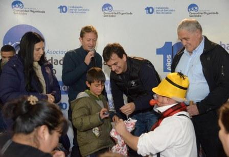 Galmarini celebró el Día del Niño junto a más de 500 chicos de San Isidro