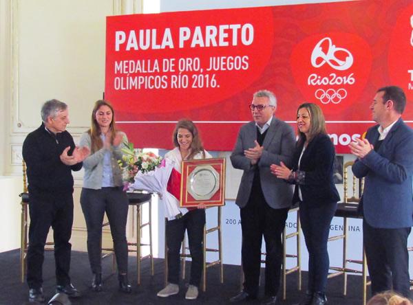 Tigre reconoció a Paula Pareto por su medalla de oro en los Juegos Olímpicos