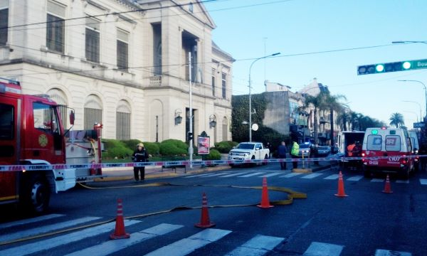 Un incendio afectó al municipio de Tigre