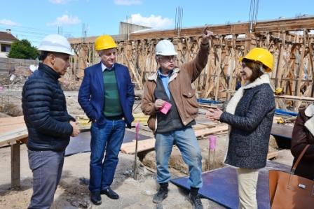 Andreotti visitó el avance de la obra del Hospital Municipal de San Fernando