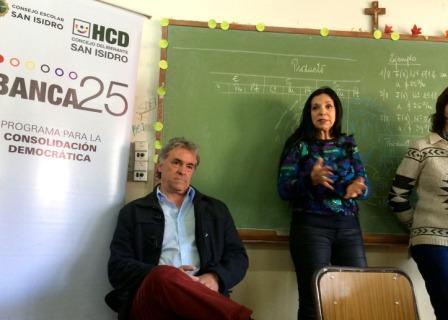 Marcela Durrieu participó en el programa de formación ciudadana Banca 25