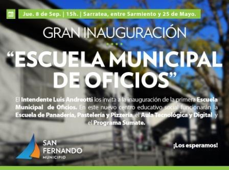 San Fernando inaugura la primera Escuela Municipal de Oficios