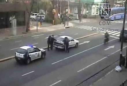 Detuvieron a dos delincuentes con ayuda de las cámaras de seguridad de San Isidro