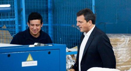 Sergio Massa estuvo en el Partido de Morón, visitando el Parque Industrial La Cantábrica