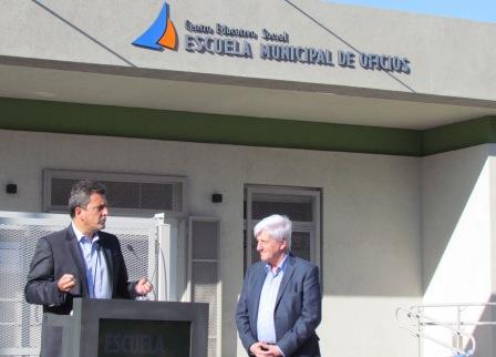 El diputado nacional Sergio Massa participo de la inauguración de una Escuela Municipal de Oficios del Municipio de San Fernando.