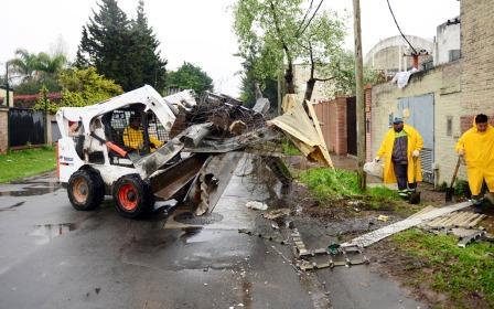 San Fernando realizó trabajos más intensivos de limpieza por las lluvias