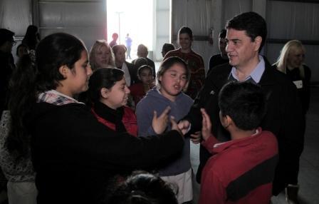 Jorge Macri recorrió el túnel de la ciencia en Tecnópolis con los alumnos de la escuela Nº 20 de Villa Martelli