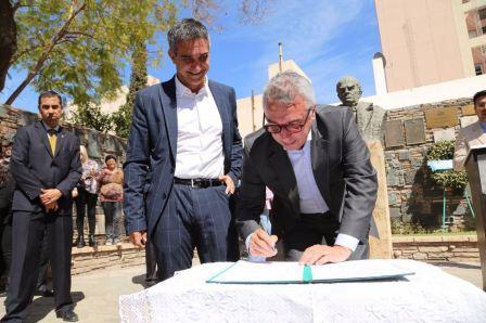 Tigre y San Juan firmaron un convenio de colaboración, integración y hermandad