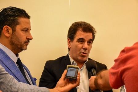 El Intendente Gustavo Men�ndez recibi� ayer en Merlo al Ministro de Seguridad Bonaerense Cristian Ritondo, quien coordin� la �Mesa Interinstitucional contra el Narcotr�fico�.