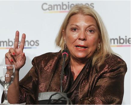 Carrió denunció que intentan poner en San Isidro a un juez vinculado a Angelici y los servicios de inteligencia