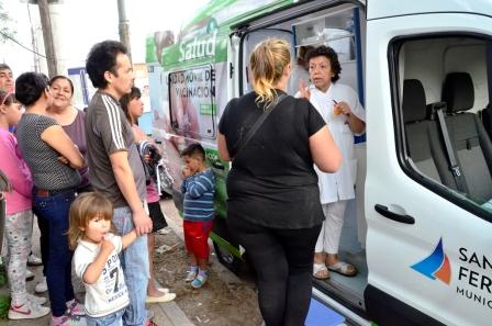 San Fernando realizó un nuevo operativo de vacunación en los barrios