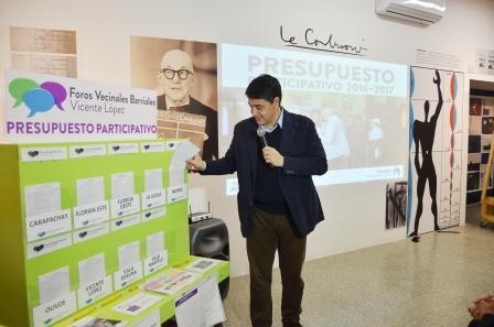 El intendente de Vicente López Jorge Macri presentó, en la casa de la cultura, los proyectos 2017 del Presupuesto Participativo que serán votados en los 9 barrios del municipio.