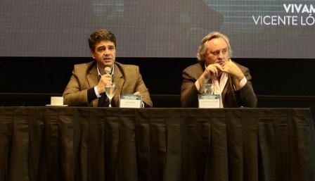 El intendente de Vicente López, Jorge Macri y el ministro de Producción de la provincia de Buenos Aires, Joaquín de la Torre