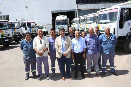 Ducoté y Jorge Macri presentaron 10 maquinarias para obras en Pilar
