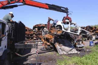 Se compactaron 500 vehículos secuestrados en desarmaderos Bonaerenses
