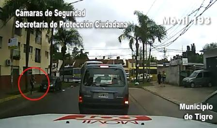 Motoquero armado y con un bebé en brazos, detenido en Don Torcuato