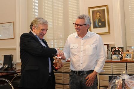 El intendente Julio Zamora recibió a su par de la ciudad entrerriana, Domingo Maiocco para abordar temas de interés común con el fin de beneficiar a los vecinos de ambas ciudades.