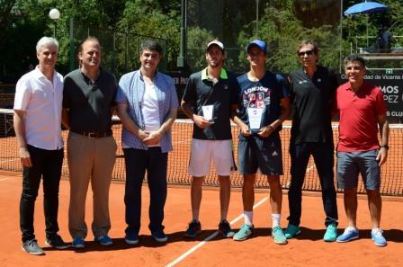 Jorge Macri estuvo presente en la final de la Copa Future Vicente López de tenis