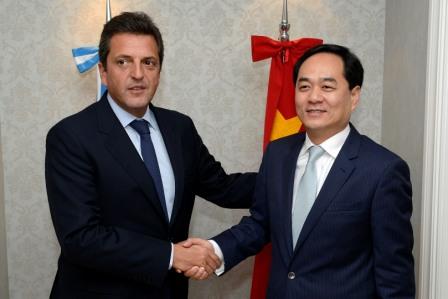 Sergio Massa se reunió con el embajador de la República Popular China