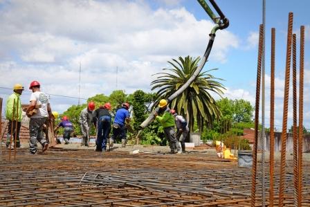 Avanzan las obras del nuevo edificio de Salud y Medio Ambiente de San Fernando