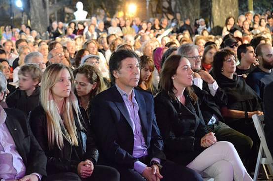 Vidal y Posse participaron del emotivo homenaje a la Noche de los Cristales Rotos en San Isidro