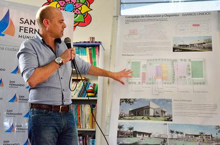 Presentaron un nuevo Complejo Educativo y Deportivo Municipal en San Fernando.