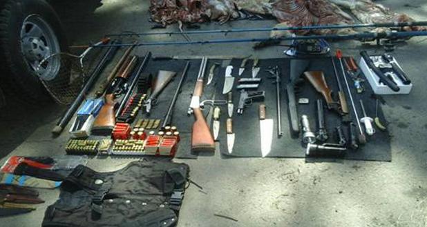Encuentran cazadores furtivos en el Delta y secuestran armas de fuego, coipos y carpinchos
