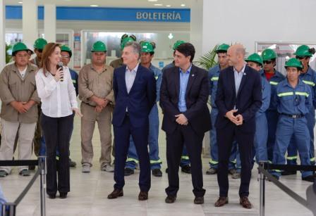 Mauricio y Jorge Macri, junto a Vidal, inauguraron la puesta en valor de la estación Aristóbulo del Valle