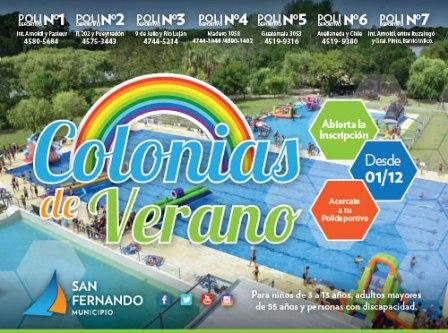 San Fernando abre la inscripción para las Colonias de Verano 2017