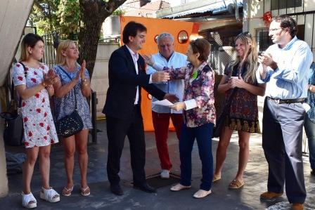 Galmarini entregó un subsidio a la Fundación COR de San Isidro
