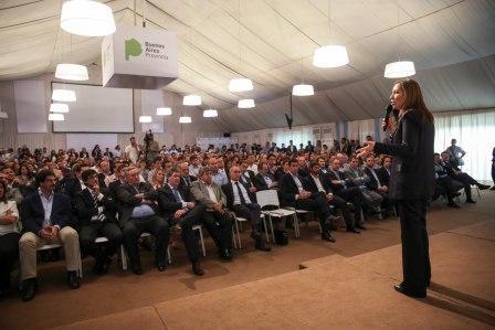 Vidal Al cerrar una Reunión de Gabinete ampliado, realizada en la Casa de Gobierno de La Plata con la presencia de más de 500 funcionarios provinciales