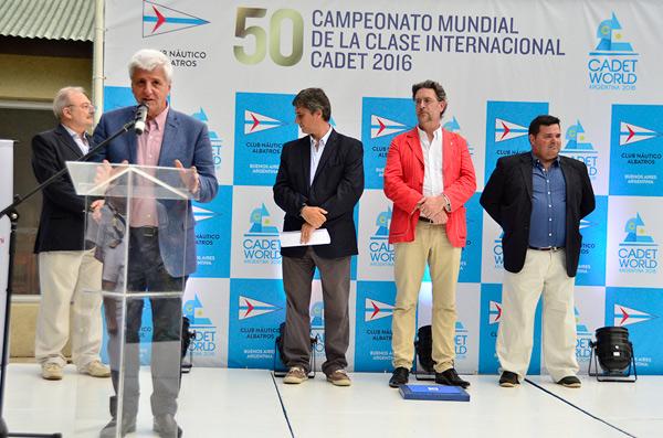 Andreotti participó del inicio del 50° Mundial de Cadet en San Fernando.