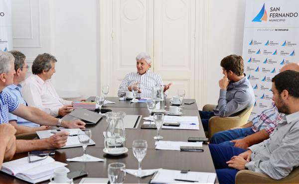 Andreotti recibió a autoridades de EDENOR.