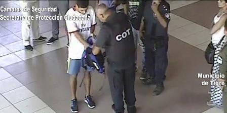Roba un stereo en la estación de trenes de Tigre, fue detenido