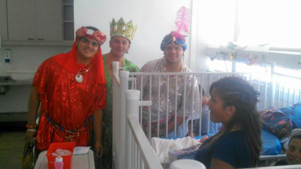 El Hospital Materno Infantil de Tigre recibió a los Reyes Magos.