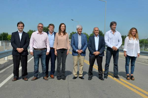 María Eugenia Vidal inauguró el nuevo puente
