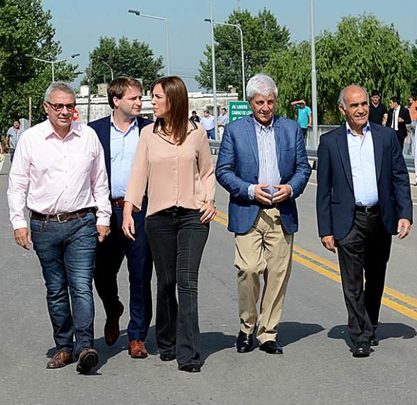 Zamora y Andreotti inauguraron junto a Vidal el Puente Taurita.
