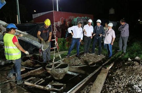 San Isidro: con trabajos nocturnos avanza la construcción del túnel de España.